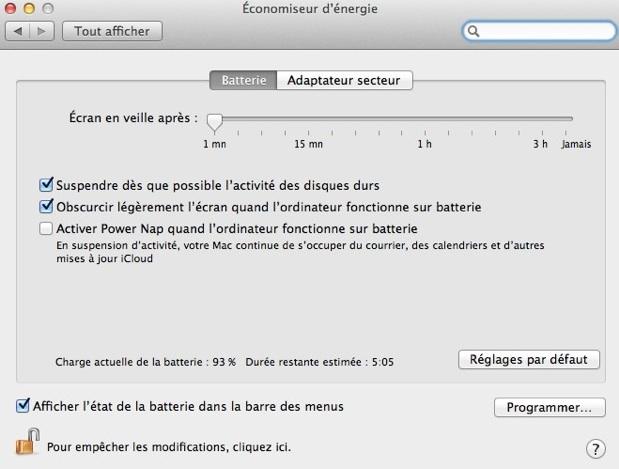 gestion de veille plus simple sur les nouveau MacBook Air